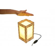 Long Distance Lamp Cracked Wooden Frame