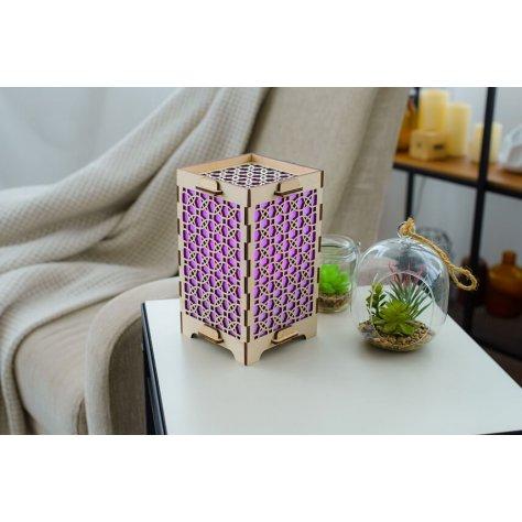 lamp with mandala circles purple