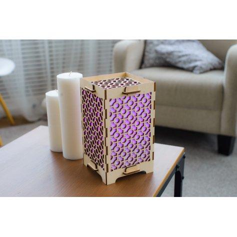 lamp with geometric circles purple
