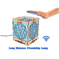 Long Distance Cube Lamp with Mandala