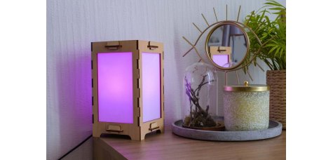 Long Distance Friendship Lamp made of Wood