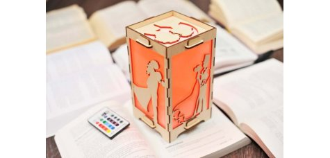 Long Distance Lamp with Couple in Love