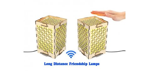 Set of 2 Touch Lamps with Multiple Circles