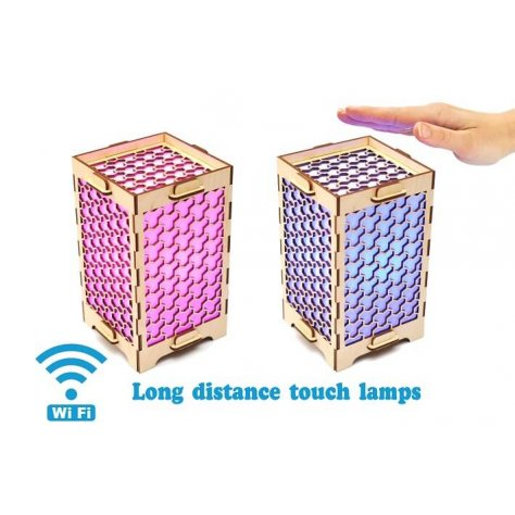 set-of-two-long distance-lamps-honeycombs
