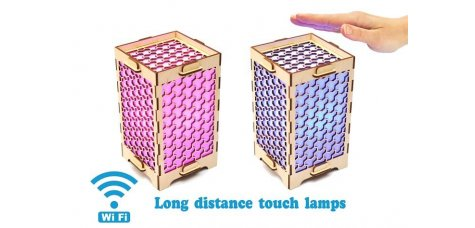 Set of 2 Long Distance Lamps with Honeycombs