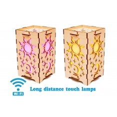 Set of 2 Touch Lamps Day and Night
