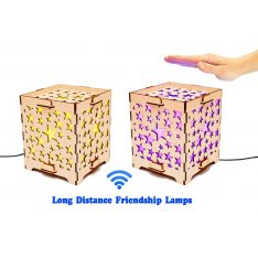 Set of 2 Long Distance Lamps with Stars