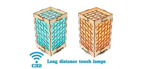 Set of 2 Long Distance Lamps with Triangles