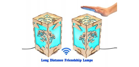 Set of 2 Touch Lamps Tree and Clouds